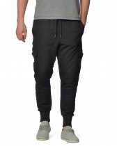 Джоггеры мужские Abyssclothing+ Slim Cargo Sweatpant Black