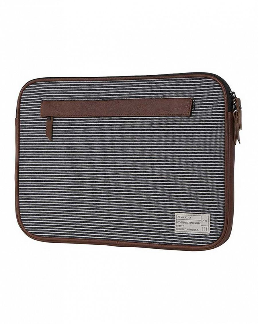 купить Чехол для ноутбука HEX Fleet MacBook Pro sleeve with IPad pocket Black Grey stripe в Москве