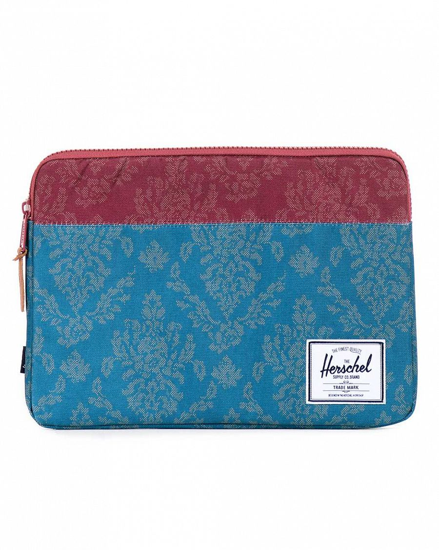 купить Чехол Herschel Anchor Sleeve для 13'' Macbook Blue Damask/Burgundy Damask в Москве