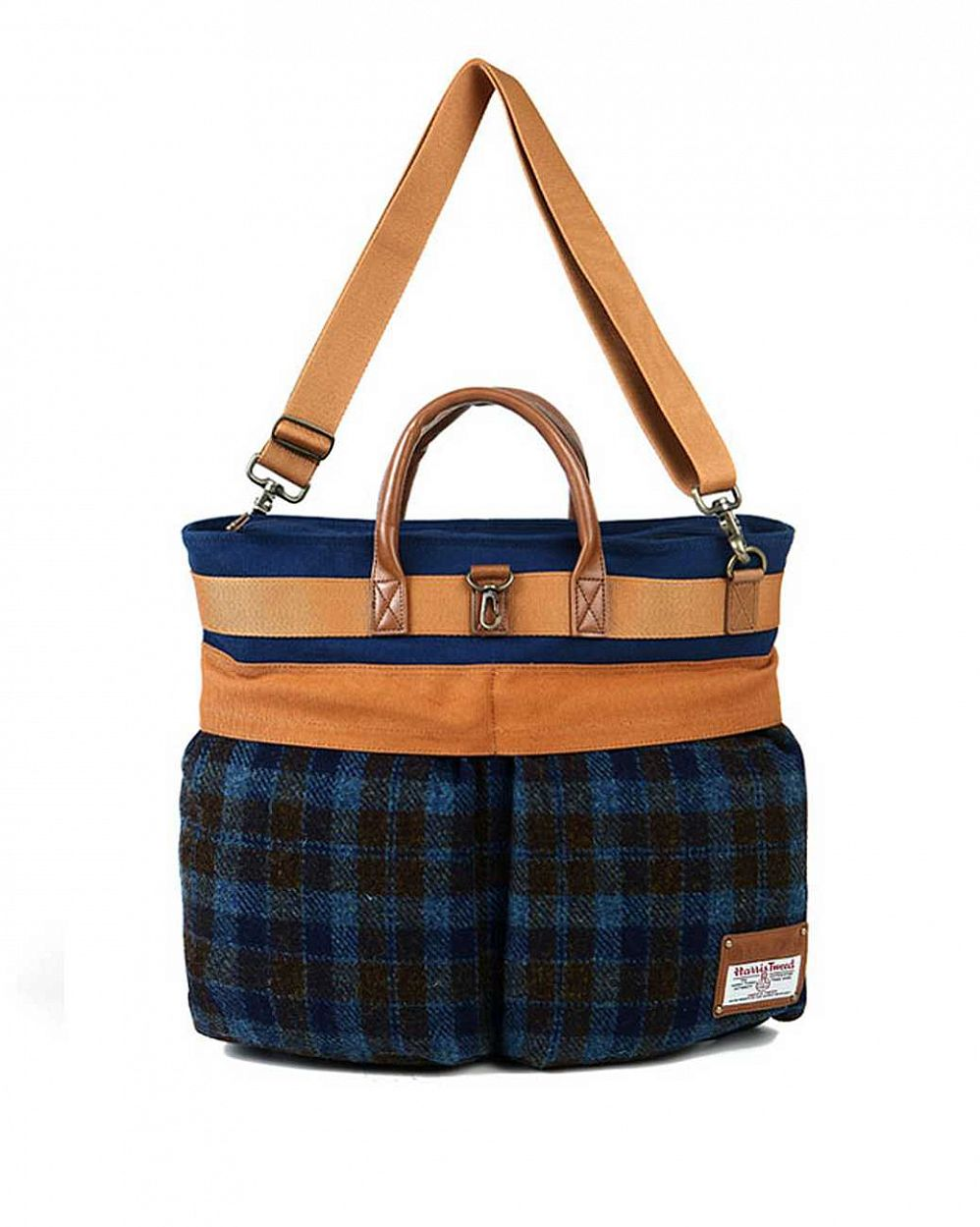 Сумка The earth Company Harris Tweed  (England) Helmet bag blue отзывы