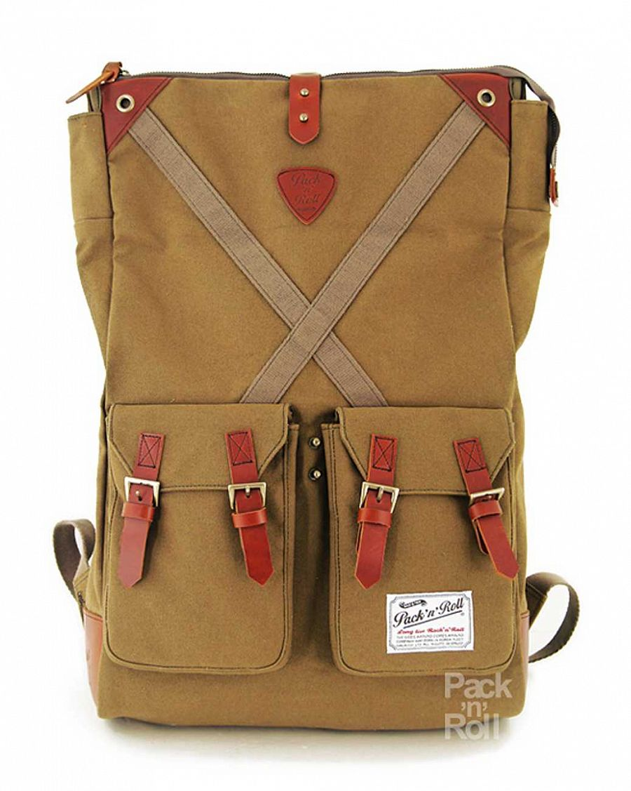 Рюкзак Pack n Roll Factor Backpack 25 oz canvas/lleather Green отзывы