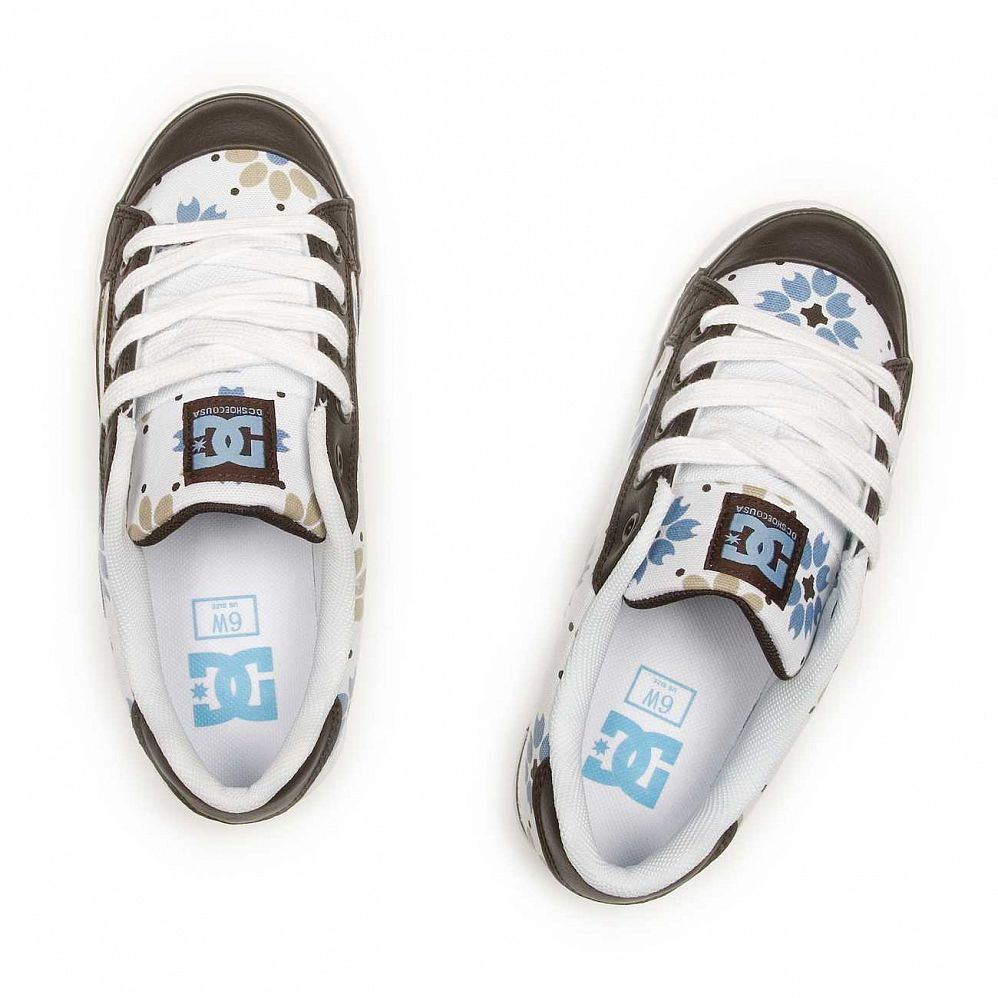 Кеды DC Shoes Chelsea W'S White Dark Chocolate купить в интернете