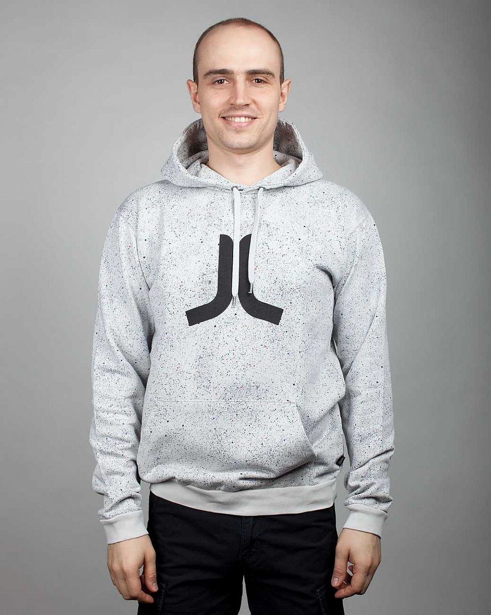 купить Толстовка Wesc, C1, Lost In Space Men's Hooded Sweatshirt, Pale Grey в Москве