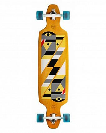 Лонгборд Gold Coast Longboards Serpentagram Yellow
