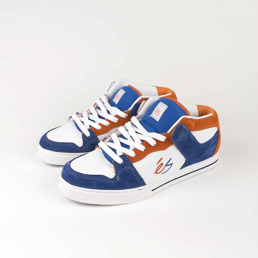 Кеды Es Cessna Mid Blue Orange White отзывы