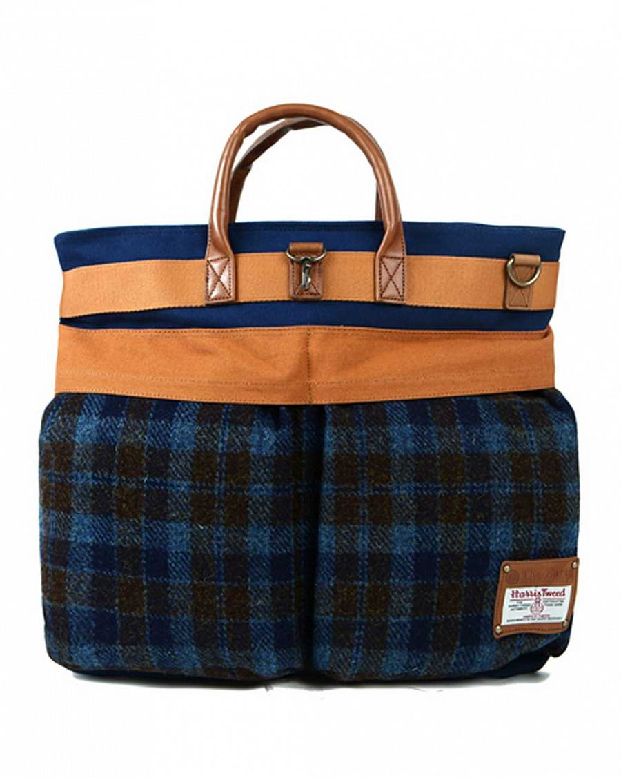 купить Сумка The earth Company Harris Tweed  (England) Helmet bag blue в Москве