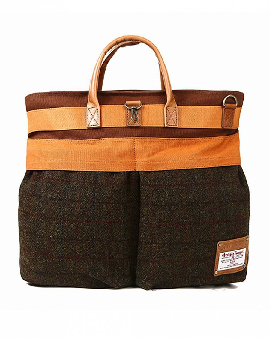 купить Сумка The earth Company Harris Tweed  (England) Helmet bag brown в Москве