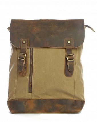 Рюкзак-мешок городской Kaukko Authentic Bags Co.Ltd FP42 Khaki Brown