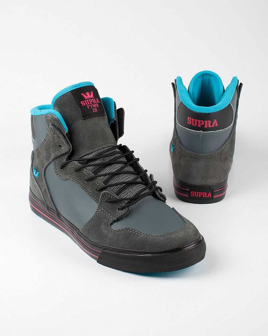 купить Кеды Supra Vaider charcoal blue black red в Москве