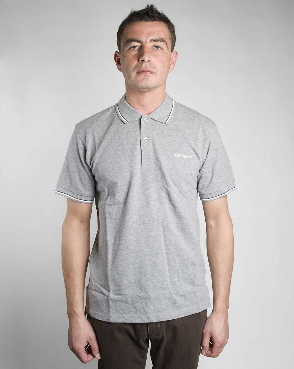 Поло Carhartt S/S Caddie Polo Grey Heather white отзывы