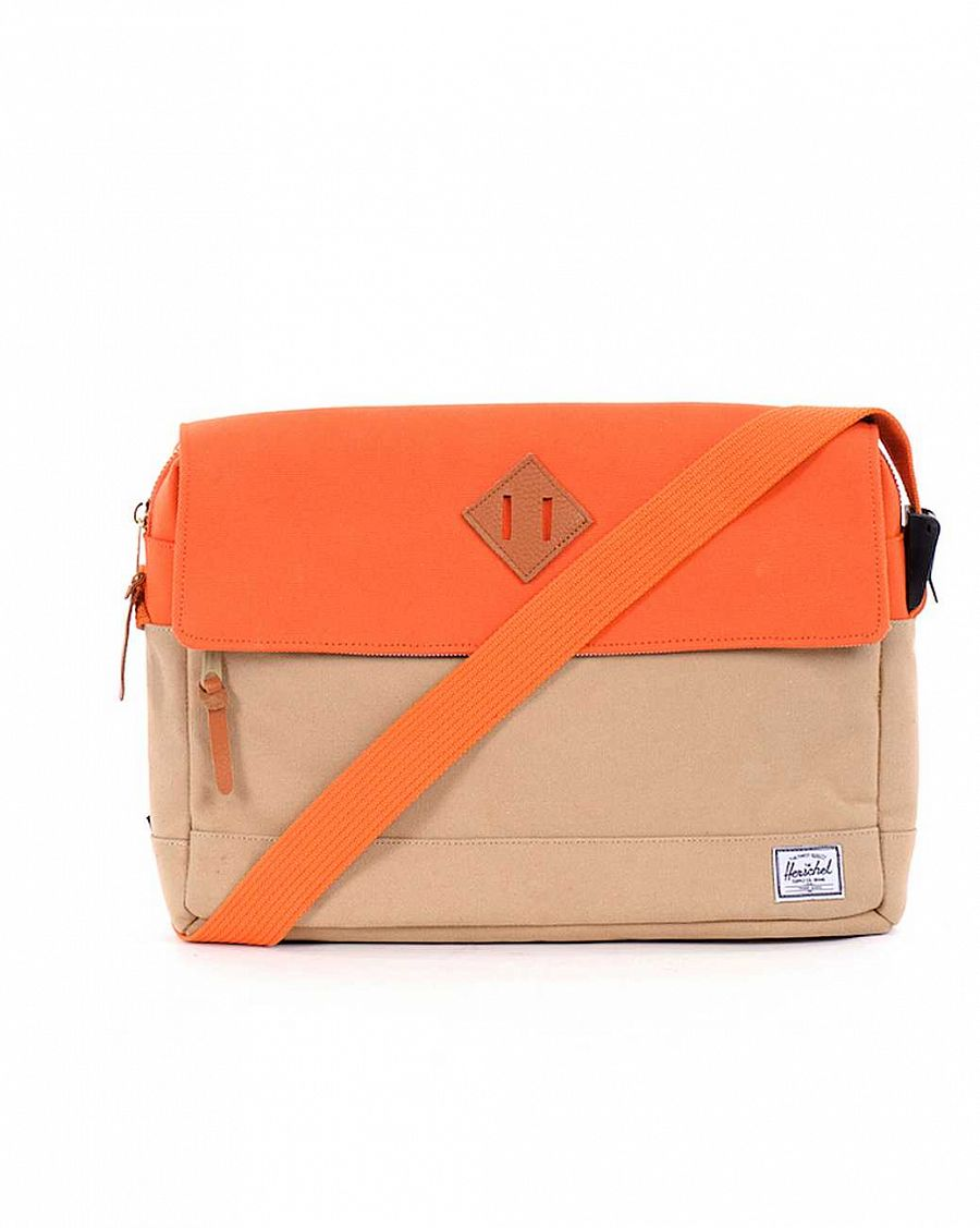 купить Сумка Herschel Morgan Canvas Khaki Burnt Orange в Москве