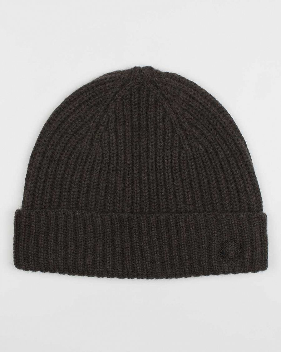 Шапка Fred Perry C8205 Mini Ribbed Beanie Olive отзывы
