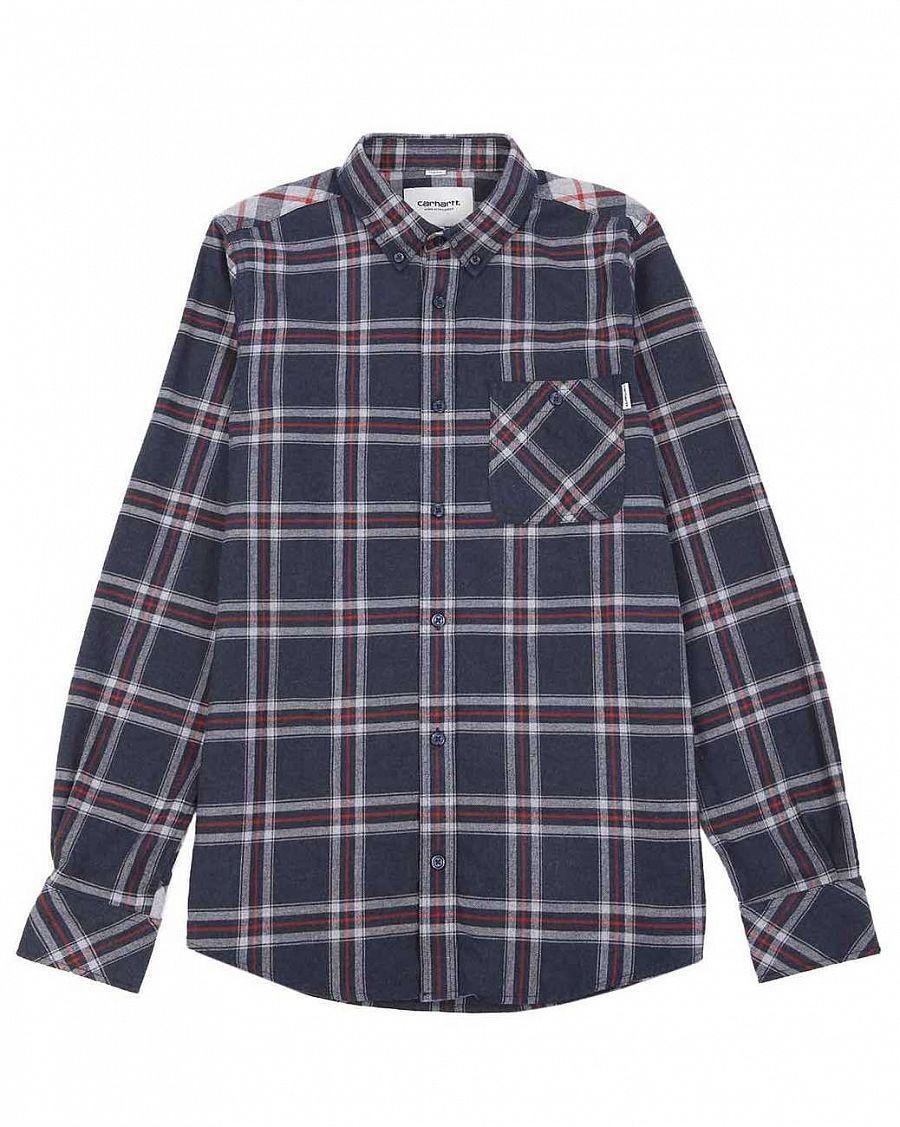 f4a9baa44da Рубашка мужская фланелевая Carhartt Aaron Shirt Cotton Twill Flannel Check  Jupiter отзывы