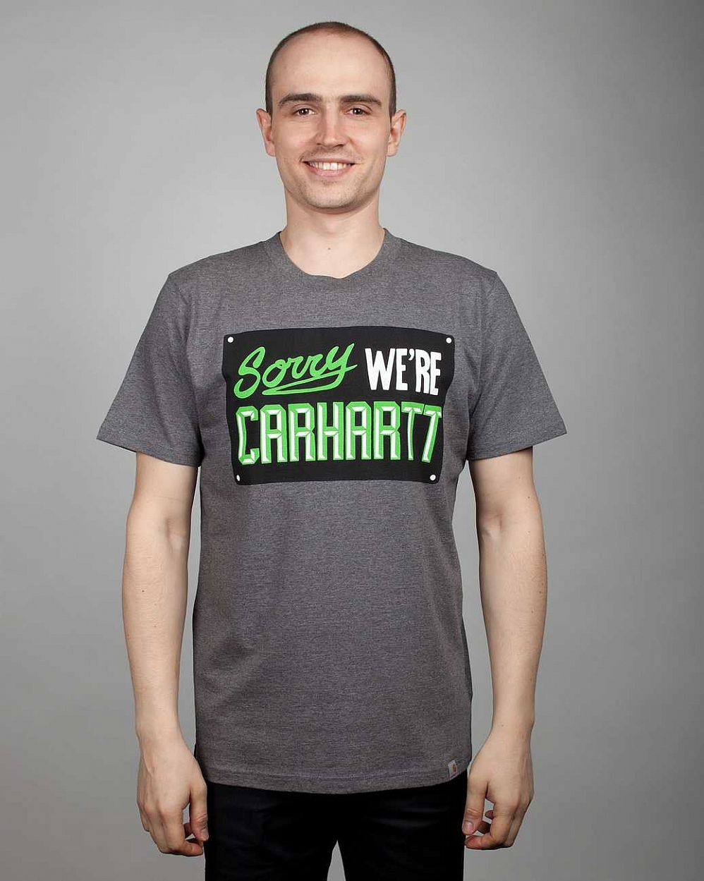 купить Футболка Carhartt S/S Sigh T-shirt Dark Grey Heather Multicolor в Москве