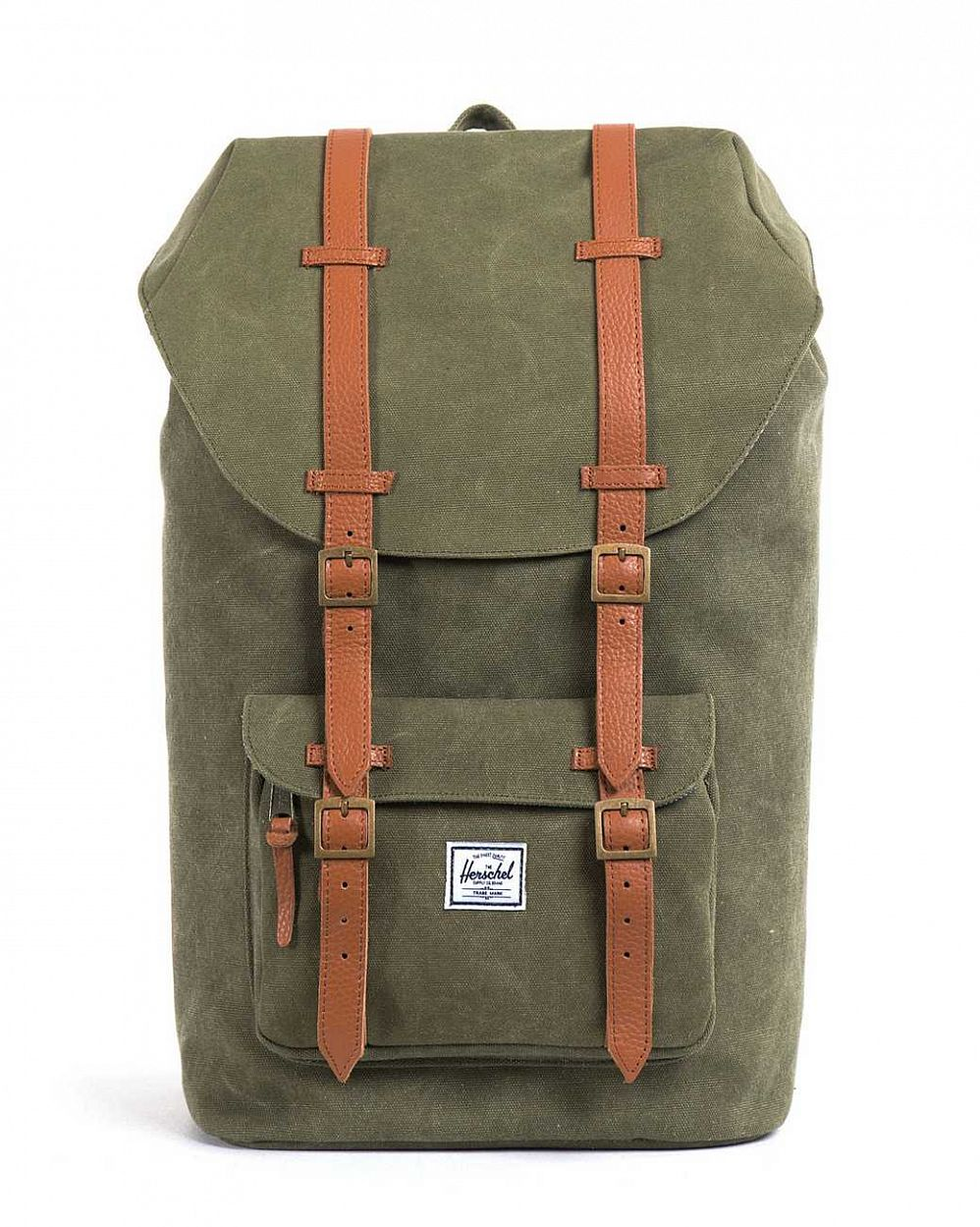 купить Рюкзак Herschel Little America Canvas Washed Army (10014-CA) в Москве