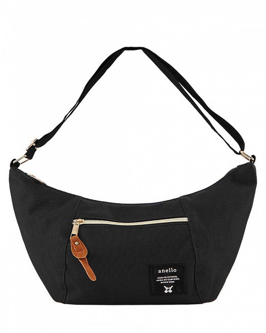 b81d80fbe0c7 Сумочка женская через плечо для документов Anello Japan Black купить ...