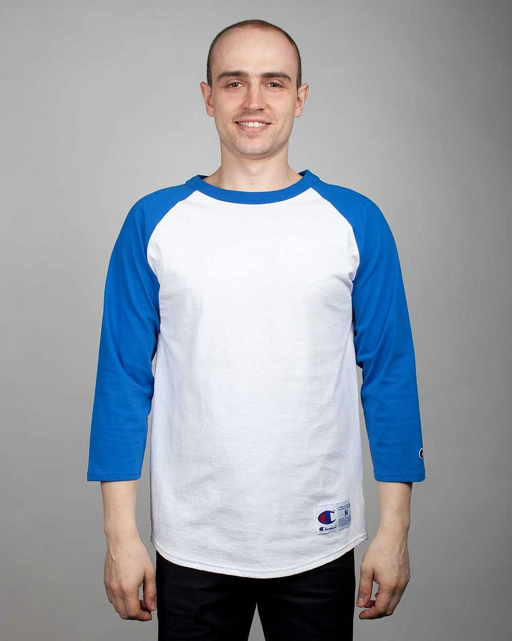 Лонгслив Champion White Blue отзывы