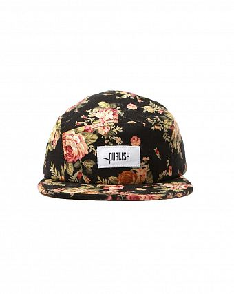 Бейсболка Publish 5 Panel Black Rose