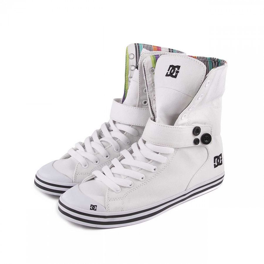 купить Кеды DC Venice HI Womens Shoe White/black в Москве