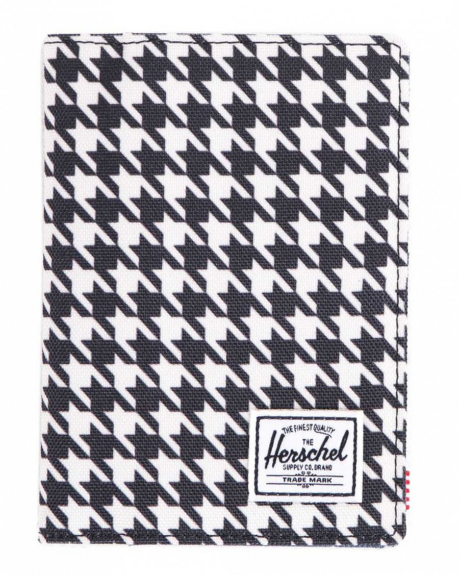 Обложка Herschel Raynor Passport Holder Houndstooth Navy Polka Dot отзывы