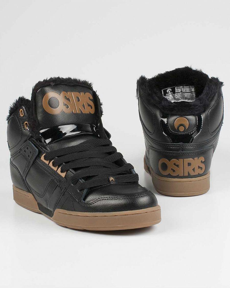eb234e9d зимние кеды Osiris Nyc 83 Shrearling Black Tan Gum купить в интернет