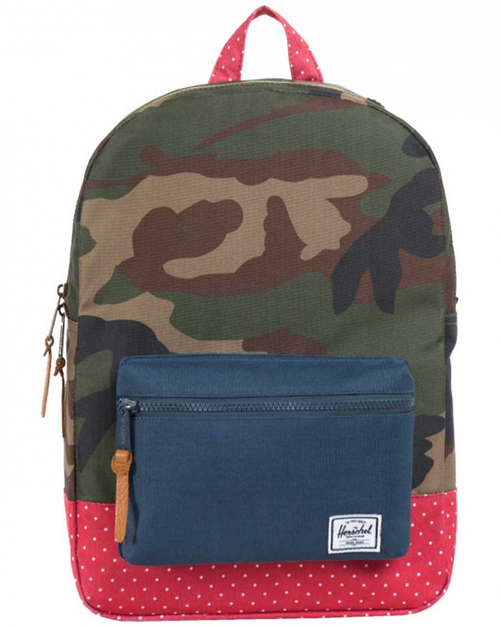 Рюкзак Herschel Settlements Youth Woodland Camo Navy Red Polka Dot отзывы
