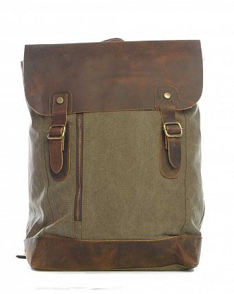 Рюкзак-мешок городской Kaukko Authentic Bags Co.Ltd FP42 Dark Green Brown