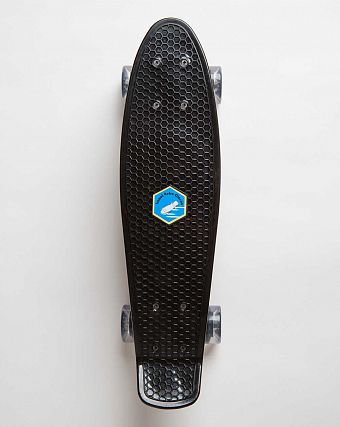 Пенни борд рыбка Iscoot Retro Classic board Black Clear