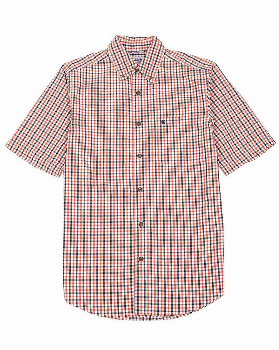 66961839fcf Рубашка мужская с коротким рукавом Carhartt USA 804 Red Check купить ...