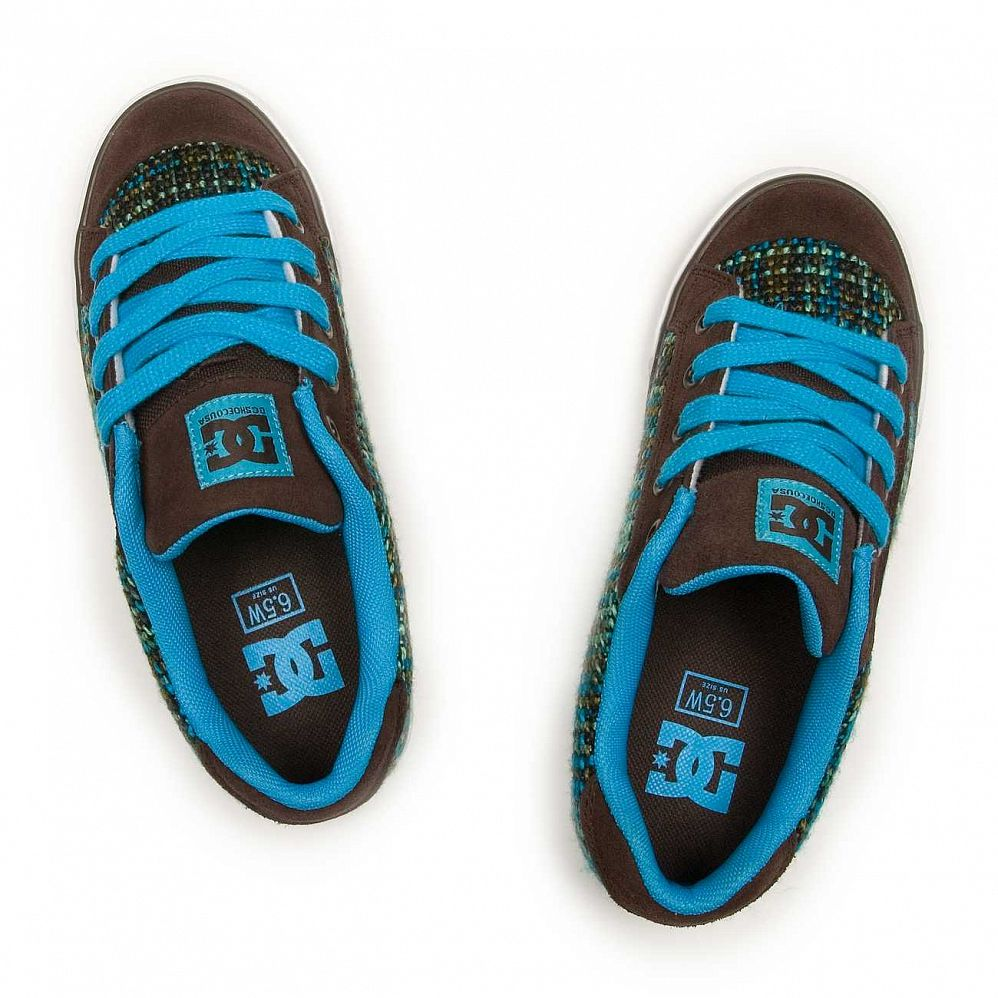 Кеды DC Shoes Chelsea W'S Dark Chocolate Turquoise купить в интернете