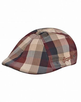 Кепка летняя Kangol Plaid Flexfit 504 Cartesian Check