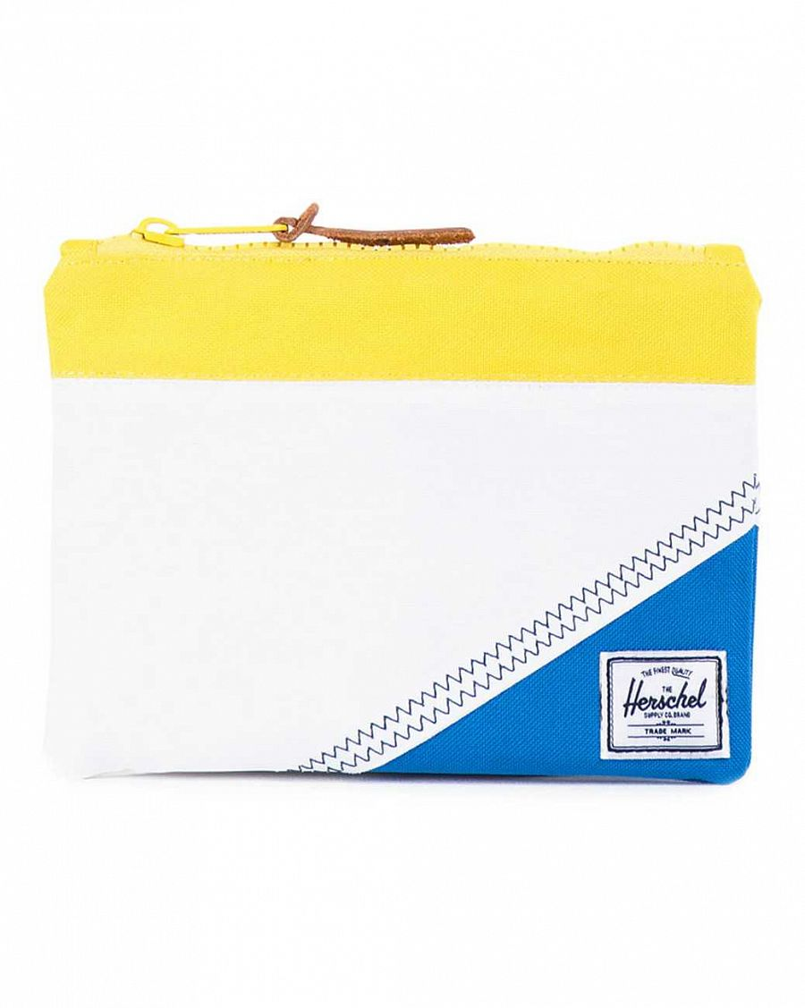 купить Папка Herchel Field Pouch Medium White Yellow Regatta в Москве