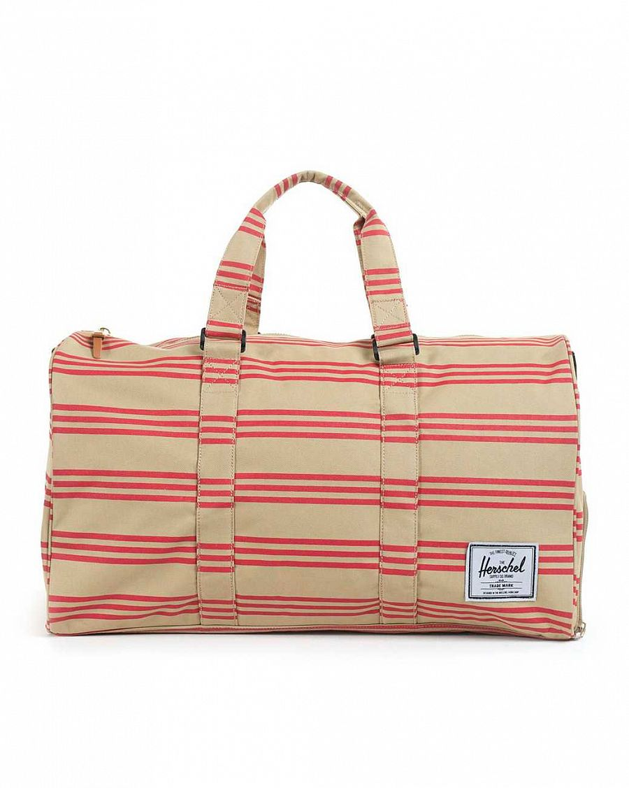Сумка спортивная Herschel Novel Canvas Red Khaki Stripe отзывы