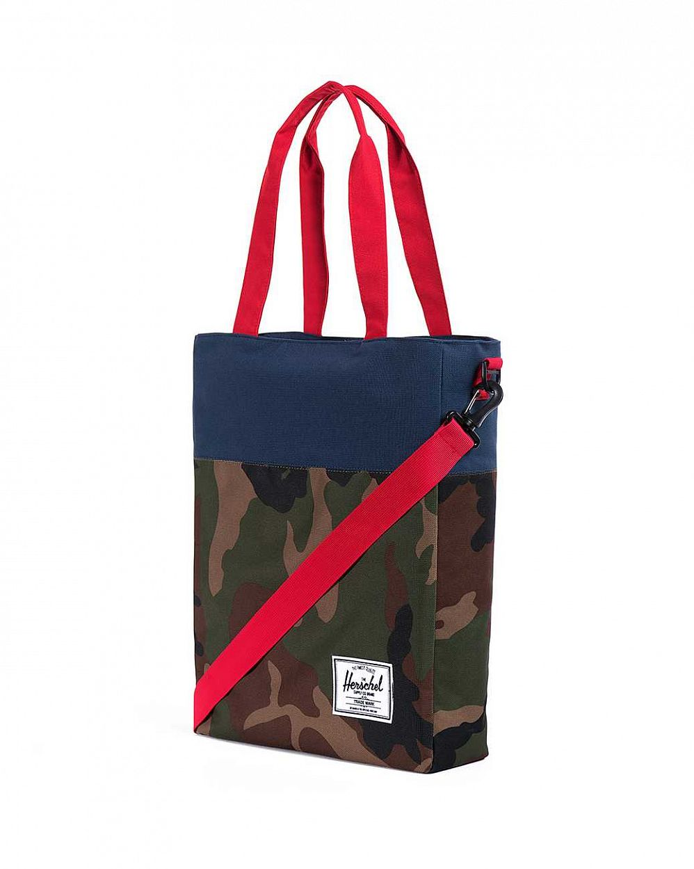 Сумка Herschel Pier Woodland Camo Navy Red цена в Москве