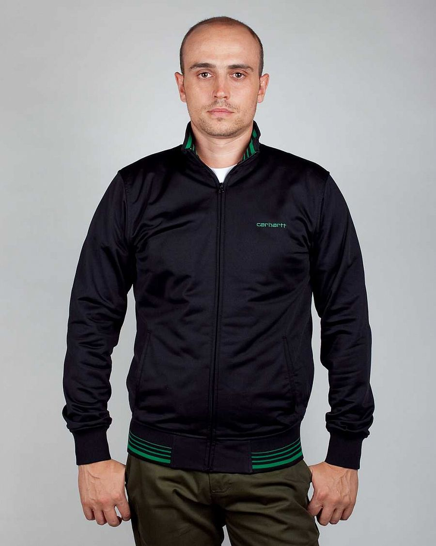 купить Олимпийка Carhartt Final Jacket Black Green в Москве