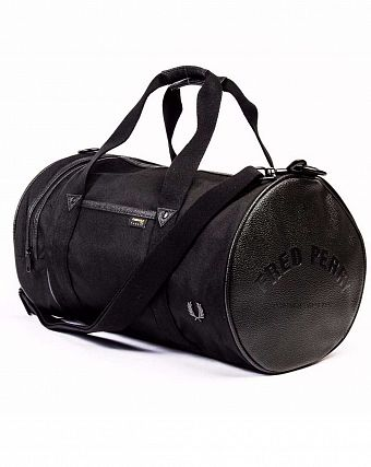 Сумка спортивная Fred Perry L7308 Classic Barrel Nylon Bag Black