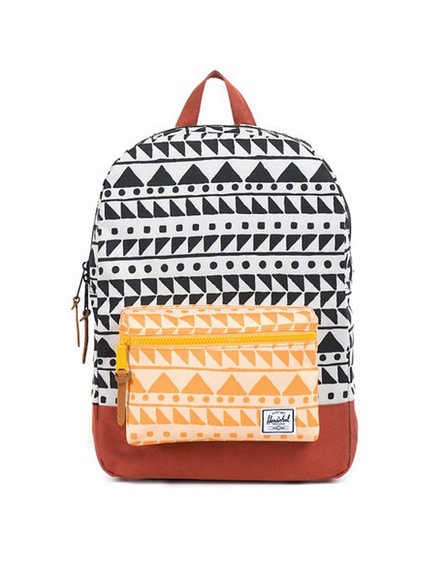 Рюкзак Herschel Settlements Youth Chevron Black Chevron Butterscotch Rust отзывы