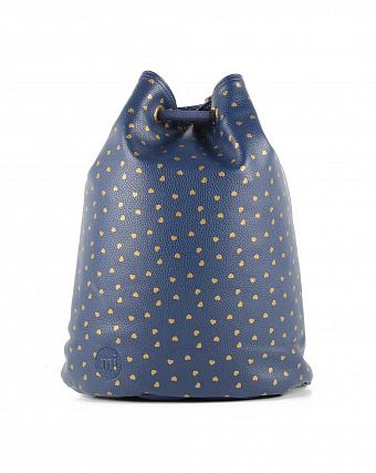Рюкзак-мешок кожаный Mi-Pac Gold Swing Sack Bag hearts navy gold