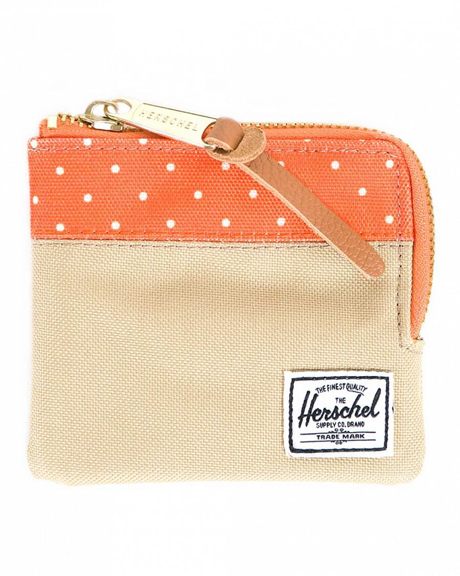 Кошелек Herschel Johnny Khaki Orange Polka Dot отзывы