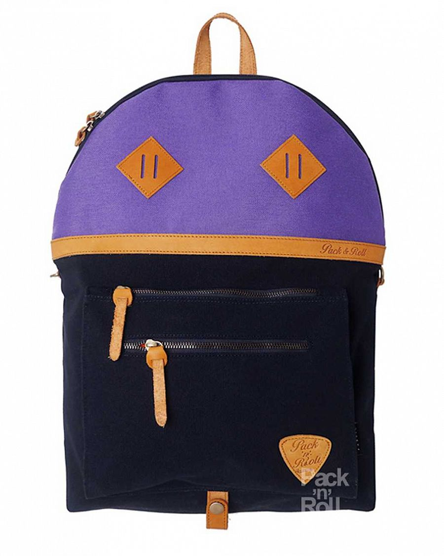 Рюкзак Pack n Roll Over Backpack 25 oz canvas/leather Black Purple отзывы