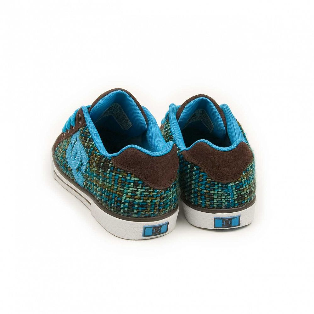 Кеды DC Shoes Chelsea W'S Dark Chocolate Turquoise интернет-магазин в Москве