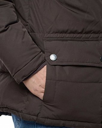 Куртка-парка на пуху Fred Perry J1285 Down Arctic Jacket Dark Chocolate