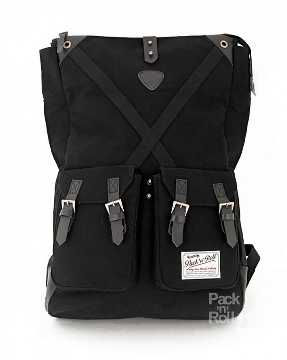 купить Рюкзак Pack n Roll Factor Backpack 25 oz canvas/lleather Black в Москве