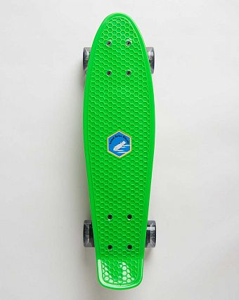 Пенни борд рыбка Iscoot Retro Classic board Green White Clear