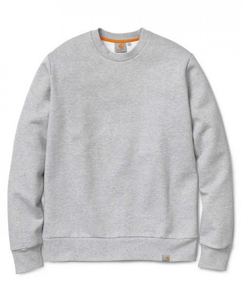 Толстовка свитшот Carhartt WIP Bronks Sweat Grey Navy отзывы