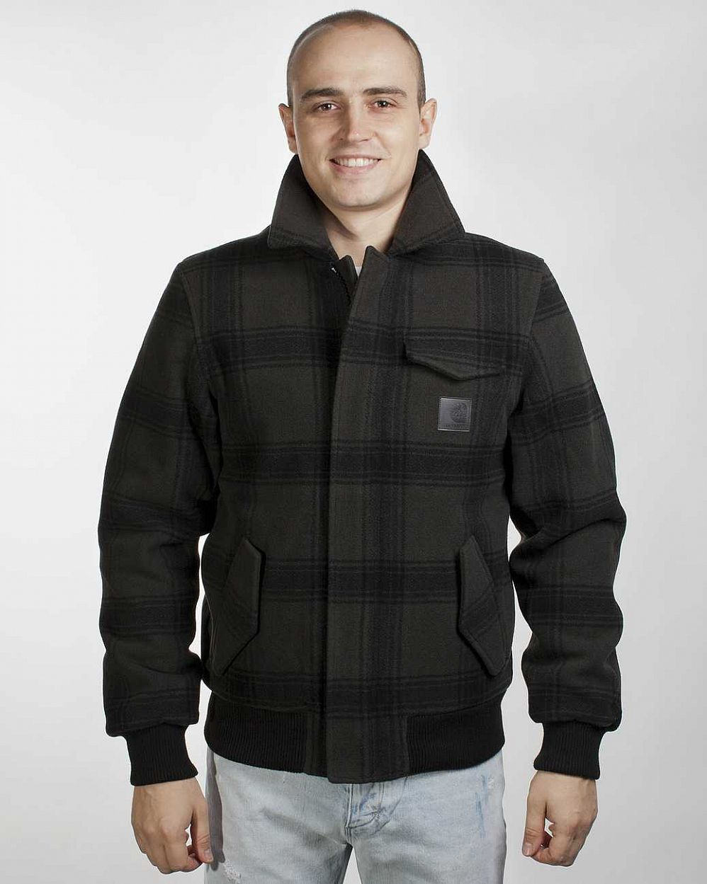 купить Куртка Carhartt Superior Jacket Asphalt/black Check в Москве