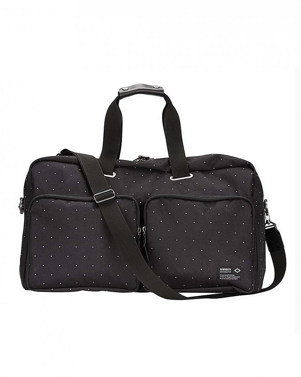 Сумка Brownbreath oblique boston bag black dot интернет-магазин в Москве