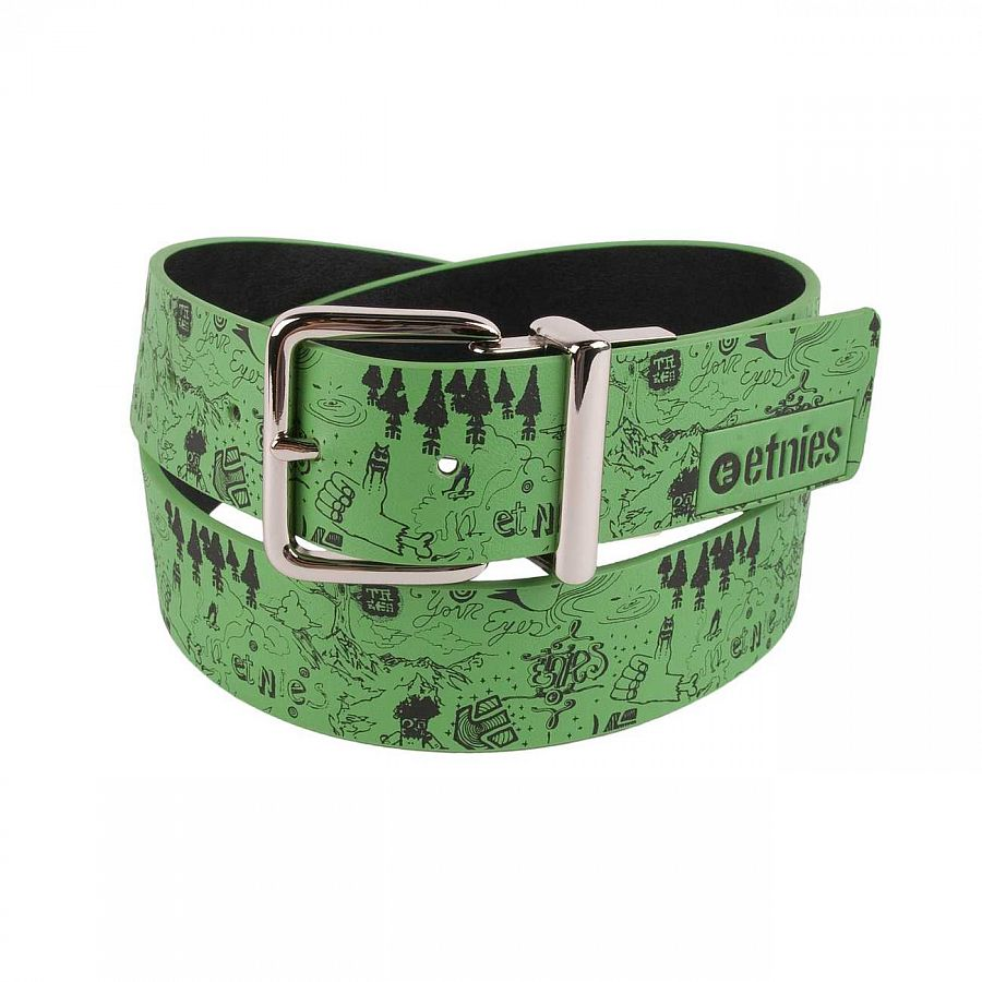 Ремень Etnies Scribble MNS Belt Green отзывы