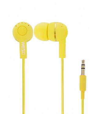 1fadb3d63f4 Наушники вакуумные WeSC Kazoo in-ear headphones Yellow ...