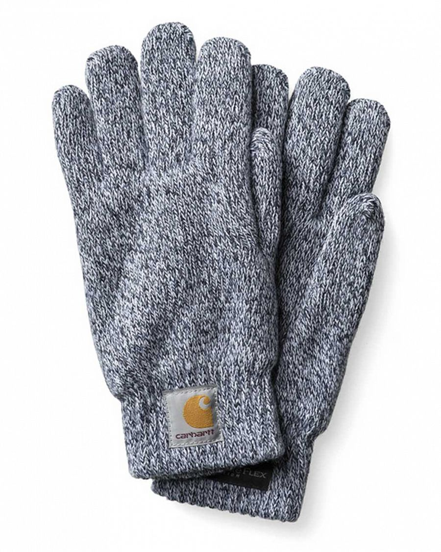 купить Перчатки Carhartt WIP Scott Gloves Dark Grey Heather  White в Москве